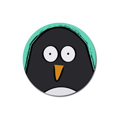 Penguin Close Up Drink Coasters 4 Pack (round)