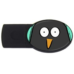 Penguin Close Up 4gb Usb Flash Drive (oval) by PaolAllen