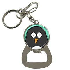 Penguin Close Up Bottle Opener Key Chain