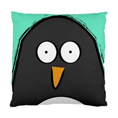 Penguin Close Up Cushion Case (single Sided)  by PaolAllen