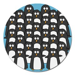 Penguin Group Magnet 5  (Round) by PaolAllen