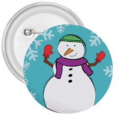 Snowman 3  Button by PaolAllen