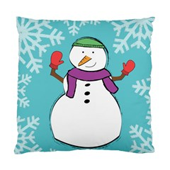 Snowman Cushion Case (single Sided)  by PaolAllen
