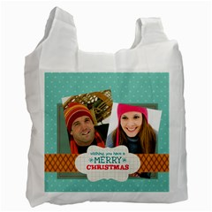 Merry Christmas By Merry Christmas   Recycle Bag (two Side)   Brupos6uhq7v   Www Artscow Com Front