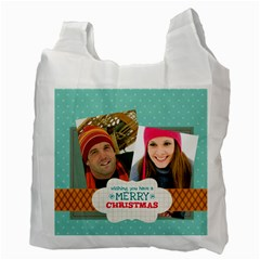 Merry Christmas By Merry Christmas   Recycle Bag (two Side)   Brupos6uhq7v   Www Artscow Com Back