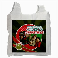 Merry Christmas By Merry Christmas   Recycle Bag (two Side)   746pf3geqylm   Www Artscow Com Front