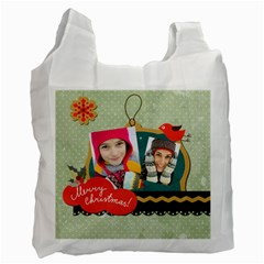 Merry Christmas By Merry Christmas   Recycle Bag (two Side)   Bjmefapg1q42   Www Artscow Com Front