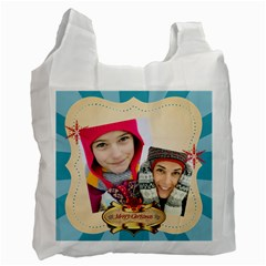 Merry Christmas By Merry Christmas   Recycle Bag (two Side)   Jspbownyzoym   Www Artscow Com Front