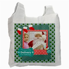 Merry Christmas By Merry Christmas   Recycle Bag (two Side)   Ssvniknlxkk0   Www Artscow Com Front