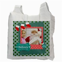 Merry Christmas By Merry Christmas   Recycle Bag (two Side)   Ssvniknlxkk0   Www Artscow Com Back