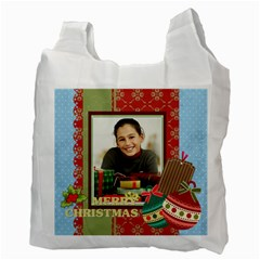 Merry Christmas By Merry Christmas   Recycle Bag (two Side)   3wl5f03ilbr5   Www Artscow Com Back