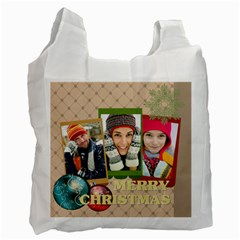 Merry Christmas By Merry Christmas   Recycle Bag (two Side)   Zxgff8vchkjj   Www Artscow Com Front