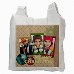 Merry Christmas By Merry Christmas   Recycle Bag (two Side)   Zxgff8vchkjj   Www Artscow Com Back
