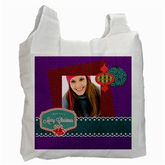 Merry Christmas By Merry Christmas   Recycle Bag (two Side)   Vap7iuf39jzc   Www Artscow Com Front