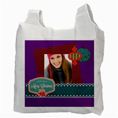 Merry Christmas By Merry Christmas   Recycle Bag (two Side)   Vap7iuf39jzc   Www Artscow Com Back