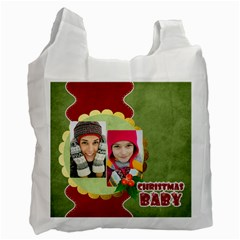 Merry Christmas By Merry Christmas   Recycle Bag (two Side)   4jd2u1lv9zv3   Www Artscow Com Front