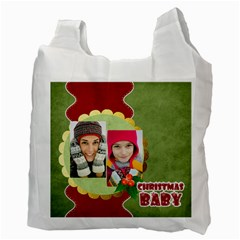 Merry Christmas By Merry Christmas   Recycle Bag (two Side)   4jd2u1lv9zv3   Www Artscow Com Back