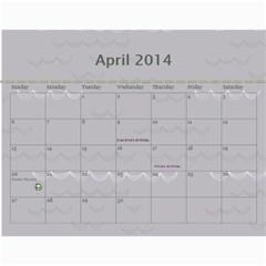 Dean By Lori Johnstone   Wall Calendar 11  X 8 5  (12 Months)   Tyerfhg061gi   Www Artscow Com Apr 2014