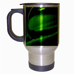 Green Drop Travel Mug (silver Gray) by Siebenhuehner