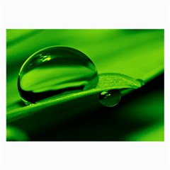 Green Drop Glasses Cloth (large, Two Sided) by Siebenhuehner