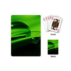 Green Drop Playing Cards (mini) by Siebenhuehner