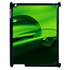 Green Drop Apple Ipad 2 Case (black) by Siebenhuehner