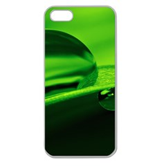 Green Drop Apple Seamless Iphone 5 Case (clear) by Siebenhuehner