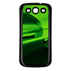 Green Drop Samsung Galaxy S3 Back Case (black) by Siebenhuehner
