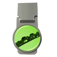 Green Drops Money Clip (round) by Siebenhuehner