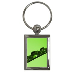 Green Drops Key Chain (rectangle) by Siebenhuehner