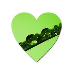 Green Drops Magnet (heart) by Siebenhuehner