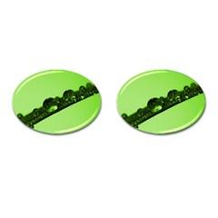 Green Drops Cufflinks (oval) by Siebenhuehner