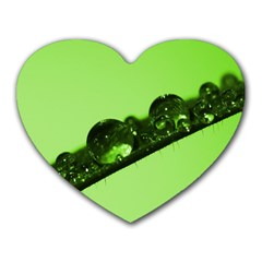 Green Drops Mouse Pad (heart) by Siebenhuehner