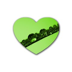 Green Drops Drink Coasters (heart) by Siebenhuehner