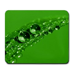 Green Drops Large Mouse Pad (rectangle) by Siebenhuehner
