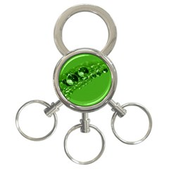 Green Drops 3 Ring Key Chain by Siebenhuehner