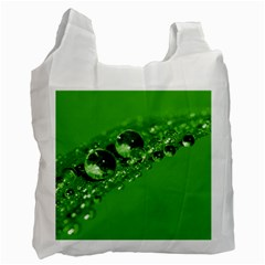 Green Drops Recycle Bag (one Side) by Siebenhuehner