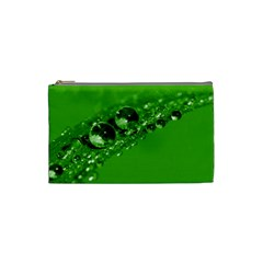 Green Drops Cosmetic Bag (small) by Siebenhuehner