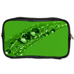 Green Drops Travel Toiletry Bag (two Sides) by Siebenhuehner