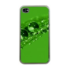 Green Drops Apple Iphone 4 Case (clear) by Siebenhuehner