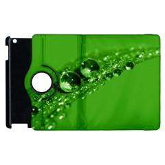 Green Drops Apple Ipad 3/4 Flip 360 Case by Siebenhuehner