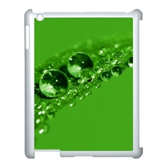 Green Drops Apple Ipad 3/4 Case (white) by Siebenhuehner