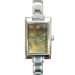 Sundrops Rectangular Italian Charm Watch by Siebenhuehner