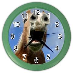 Haflinger  Wall Clock (color) by Siebenhuehner