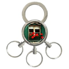 Window 3 Ring Key Chain by Siebenhuehner