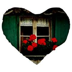 Window 19  Premium Heart Shape Cushion by Siebenhuehner