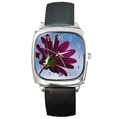 Daisy Square Leather Watch by Siebenhuehner