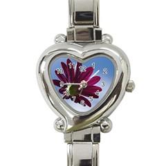 Daisy Heart Italian Charm Watch  by Siebenhuehner