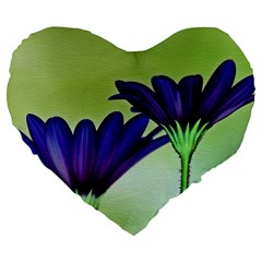 Osterspermum 19  Premium Heart Shape Cushion by Siebenhuehner