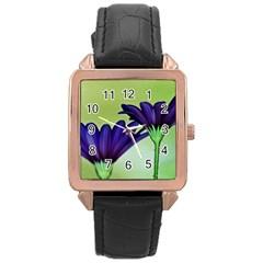 Osterspermum Rose Gold Leather Watch  by Siebenhuehner